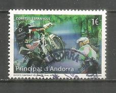 ANDORRA: Championnat Du Monde De Trial En Andorre 2015. Un Timbre Oblitéré, 1 ère Qualité - Used Stamps