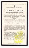 DP Marie Deleu ° Ieper 1870 † 1933 X Jean Matthu - Andachtsbilder
