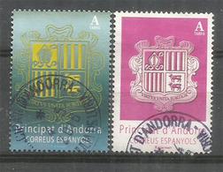 ANDORRA. Nouveaux Blasons D'Andorre 2018. Deux Timbres Obliteres, 1 Ere Qualite - Used Stamps