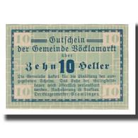 Billet, Autriche, Vöcklamarkt O.Ö. Gemeinde, 10 Heller, N.D, SPL, Mehl:1117Ia - Autriche