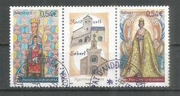 Jumelage Du Sanctuaire N-D De Meritxell,Andorre,  & N-D De Sabart En Ariège. Bande Oblitérée 1 ère Qualité - Used Stamps
