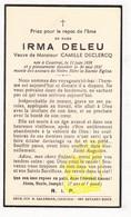 DP Irma Deleu ° Kortrijk 1858 † 1937 X Camille Declercq - Andachtsbilder