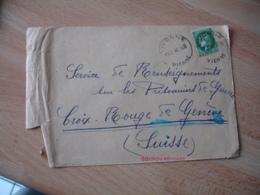 Vivonne Horoplan Cachet Horodateur  Obliteration  Sur Lettre - Marcophilie (Lettres)
