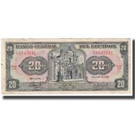 Billet, Équateur, 20 Sucres, 1986, 1986-04-29, KM:121Aa, TTB - Ecuador