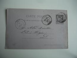 Lot De 2 Hirson C A D Type 17 Obliteration Sur Entier Postal Sage - 1877-1920: Periodo Semi Moderno