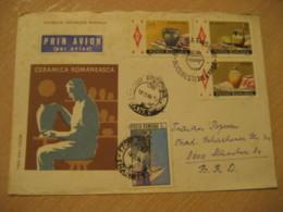 BUCHAREST 1988 Ceramica Romaneasca PORCELAIN FDC Cancel Air Mail Cover ROMANIA Porcelaine Ceramics Pottery Art - Porcelaine