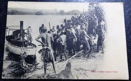 Canot à Vapeur Dans Le KOTTO CPA Afrique CONGO - Congo Belga - Otros