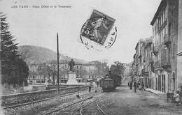 Les Vans - Place Ollier Et Le Tramway - Autres Communes