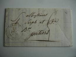 Cachet Type 13 C A D Loudun Taxe Manuelle Pour Poitiers - Marcophilie (Lettres)