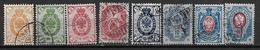 Finlande 1891 N°36/43 Oblitérés Série Courante Cote 134 Euros - Gebraucht