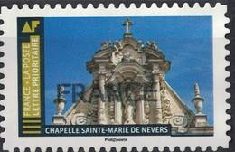 France 2019 Oblitéré Used Histoire De Styles Architecture Chapelle Sainte Marie De Nevers SU - France