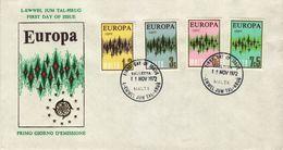 MALTA  1972  EUROPA CEPT FDC - 1972
