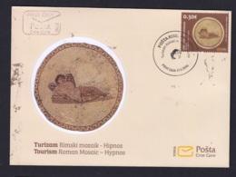 7.- MONTENEGRO 2016  FDC Tourism 2016 - Roman Mosaic - Hipnos - Arqueología