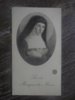 Ancien - Icône Image Pieuse Sainte Marguerite-Marie 1920 - Godsdienst & Esoterisme