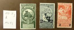 Italien Michel Nr: 107 -9  Falz MH *  #4961 - Mint/hinged
