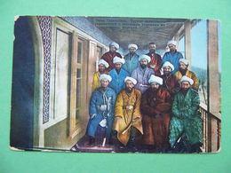 Turkestan, FERGANA 1910s Group Governors And Rural Elders. Russian Postcard - Ouzbékistan