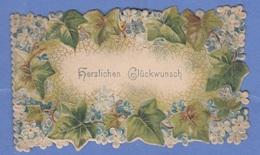 GLÜCKWUNSCHKÄRTCHEN, Prägekarte, Format Ca.10,5 X 5 Cm - Seasons & Holidays