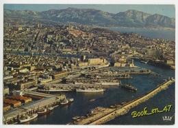 {73289} 13 Bouches Du Rhône Marseille , Le Bassin De La Joliette , Notre Dame De La Garde Et La Corniche - Joliette, Zone Portuaire