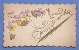 GLÜCKWUNSCHKARTE - Prägekarte, Golddruck, Format Ca.10,5 X 6,5 Cm - Saisons & Fêtes