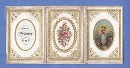 TAUFBRIEF Mit Goldprägung 1872, 3 Seitig, Größe Ca.11,5 X 7,5 Cm, Leicht Fleckig - Seasons & Holidays