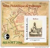 CNEP N°  71 De 2016 - Bloc Autoadhésif - Salon De Printemps à Belfort - Statue Des 3 Sièges - CNEP