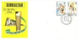 GIBRALTAR 1981 EUROPA CEPT FDC - 1981