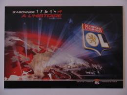 FOOTBALL - OLYMPIQUE LYONNAIS ( OL ) - Blason Du Club De Ligue 1 - Carte Publicitaire Abonnement Lyon 2005-2006 - Football