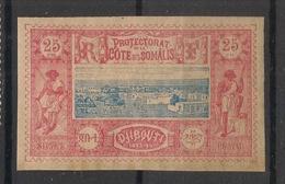 Côte Des Somalis - 1894-1900 - N°Yv. 12 - Djibouti 25c Rose - Neuf Luxe ** / MNH / Postfrisch - Côte Française Des Somalis (1894-1967)