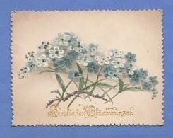 GLÜCKWUNSCHKÄRTCHEN Prägedruck Um 1893, Format Ca.11,5 X 8,5 Cm - Seasons & Holidays