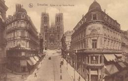 Brussel, Bruxelles, Eglise Et Rue Sainte Gudule (pk56506) - Avenues, Boulevards
