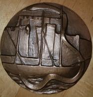 Très Rare Grande Medaille De 9cm Bronze La Faculté De Médecine De Brest Au Prof.Louis DOUSTE-BLAZY - France