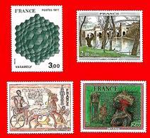 3532 --  FRANCE - 1976-77 - N°  1899/1900+1923/24**  Neufs - Sammlungen