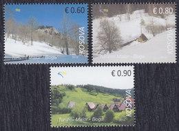 Kosovo 2016 Mountain Tourism - Nature Park Boga, MNH (**) Michel 363-365 - Kosovo