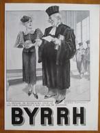 (1936) AVOCAT Et Divorce Par Geoge Leonnec Pour Byrrh   - Page Originale Vintage - Documents Historiques
