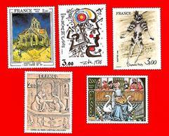 3535 --  FRANCE - 1979 - N°  2053/54+2067/68+2039**  Neufs - Sammlungen