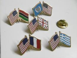 Pin's Lot De 5 DRAPEAUX Différents FLAGS US USA ETATS-UNIS - Pin's