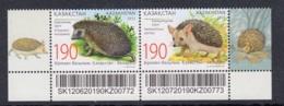 2.- KAZAKHSTAN 2012 Fauna. Hedgehogs. Big-eared Hedgehog (Kazakhstan), And European Hedgehog (Belarus) - Roedores