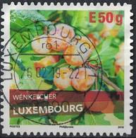 Luxembourg 2018 Oblitéré Rond Used Wénkelcher Variété De Prune SU - Gebruikt