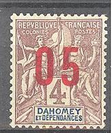 Dahomey: Yvert N° 34b*; Variété Chiffres Espacés - Dahomey (1899-1944)
