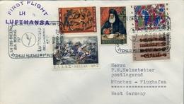 1971 GRECIA  , PRIMER VUELO / FIRST FLIGHT , LUFTHANSA , THESALONICA - MÜNICH - Grecia