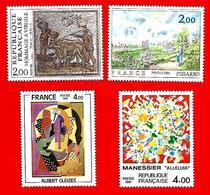 3539 --  FRANCE - 1981 - N°  2136+2137+2169+2174**  Neufs - Sammlungen