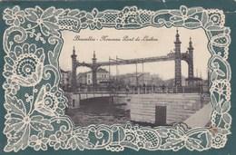 Brussel, Bruxelles, Carte Relief, Gaufrée, Motif Dentelle, Nouveau Pont De Laeken (pk56536) - Lanen, Boulevards