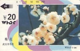 TARJETA TELEFONICA DE CHINA. TAMURA. FLORES - FLOWERS. Flower Of Wuhan City--plum Blossom(3-1). WDJ5(3-1). (396) - Flores