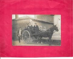 CARTE PHOTO A IDENTIFIER -  Un Beau ATTELAGE - CPA Envoyé De DOLE (jura) En 1909 - DELC33/ENCH - - Cartes Postales