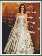 PAZ VEGA  AUTOGRAPHE / AUTOGRAMM  In Person Signed Glossy Photo 20/27 Cm - Autographes