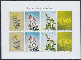 Kosovo 2008 Flowers - Flora - Medicinal Plants, Sheet, Imperforated, MNH (**) Michel 111-114 - Kosovo