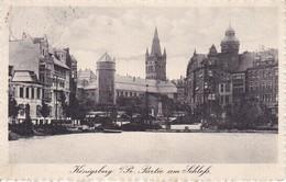 AK Königsberg I. Pr. - Partie Am Schloß - Feldpost IV. Rekruten-Depot Feld-Artillerie Regt. 52 - 1915 (39994) - Ostpreussen