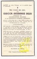 DP Isidoor Desiderius Deleu ° Elverdinge Ieper 1848 † 1938 X Juliana S. Dolphen Xx Genoveva Th. Dieusaert - Andachtsbilder