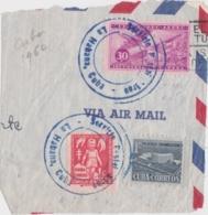 Timbres Cuba Sur Fragment 1960 - Via Air Mail - Cachet Servicio Postal La Habana - Lettres & Documents