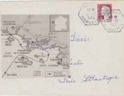 Lettre France - Cachet Hexagonal HOUAT (Morbihan) Du 16/12/1963 - Marcophilie (Lettres)